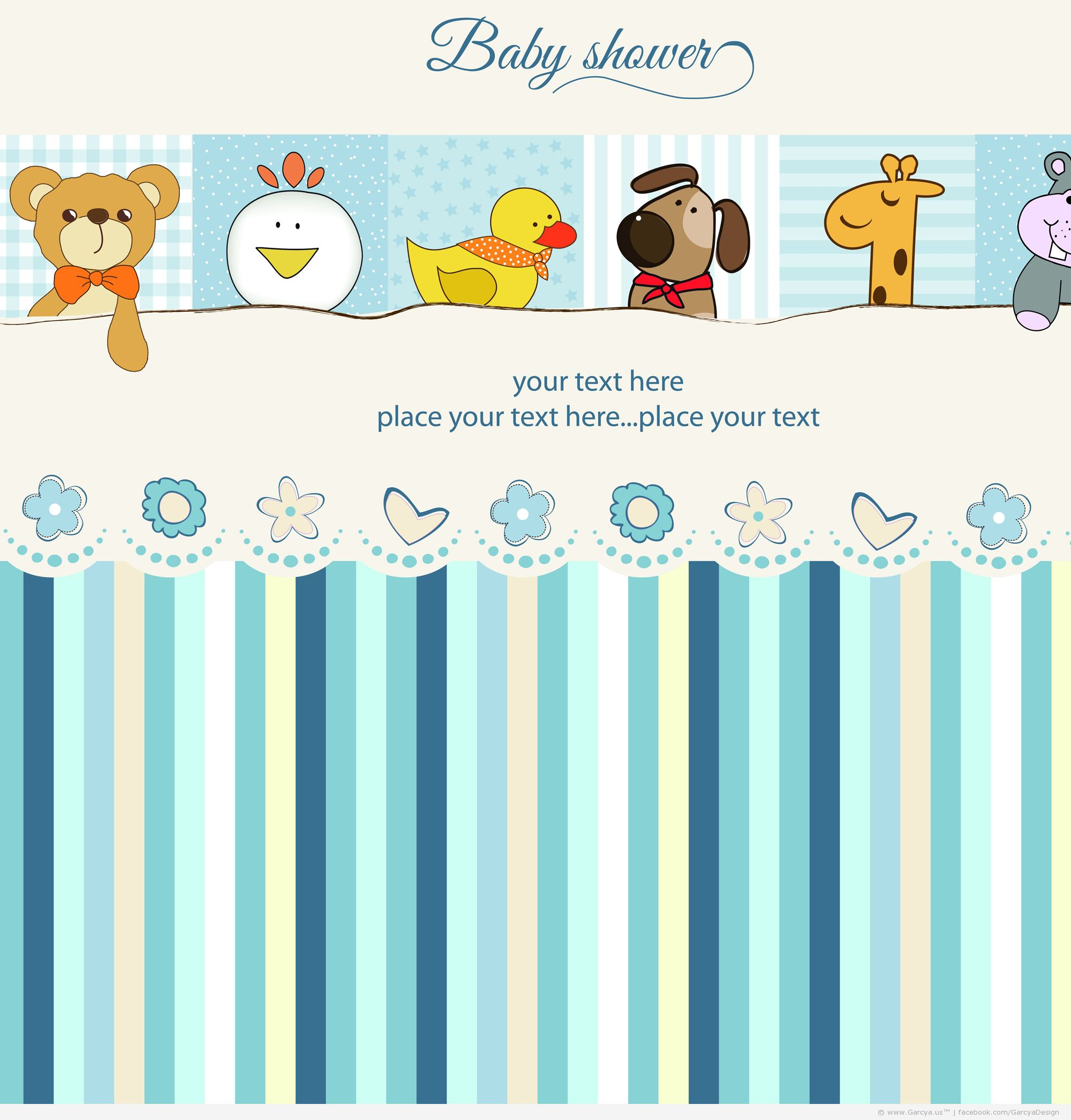 Blue Safari Baby Shower Invitations for beautiful invitations design