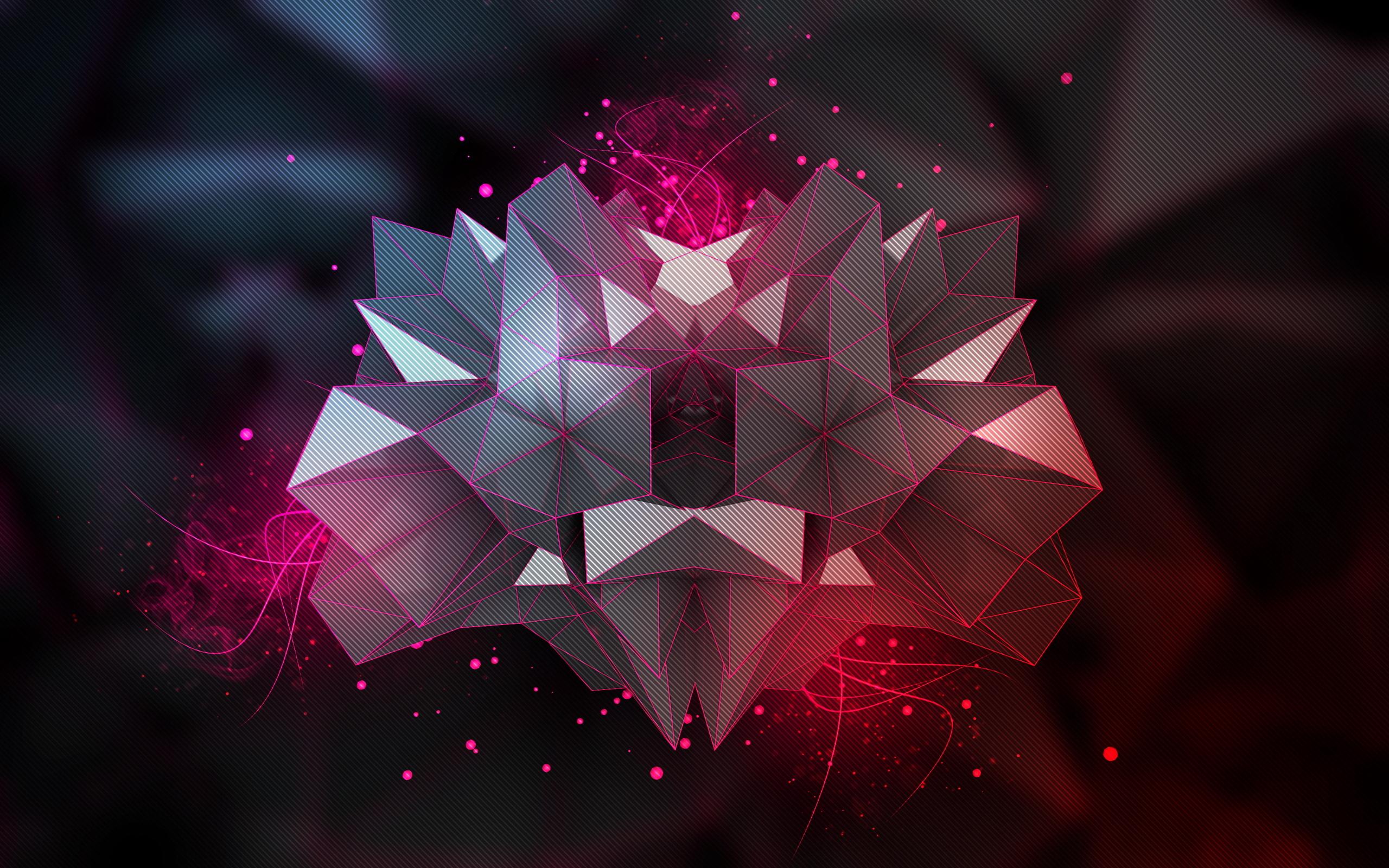 triangles 3d background hd wallpaper 2560x1600