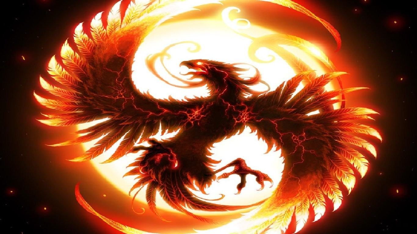 Fantasy Phoenix Wallpaper 4 Background Wallpaper 1366x768