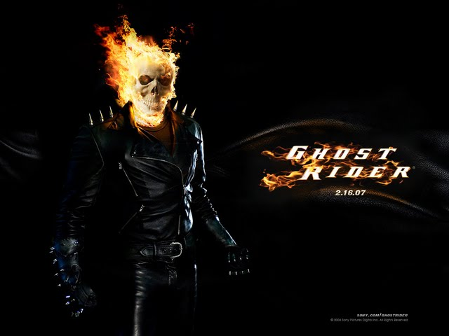 Ghost Rider Burning Skull wallpaper Wallpaper Walltor 640x480
