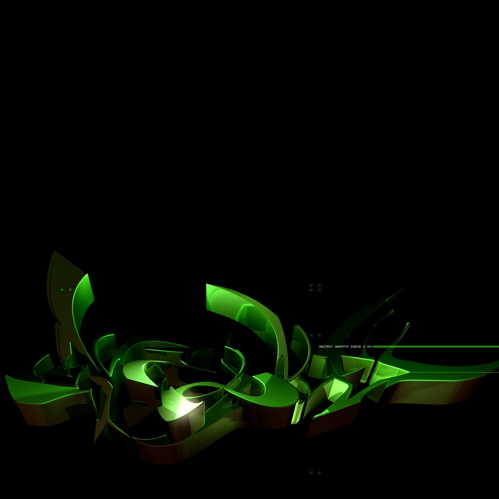 Black And Green Abstract Wallpaper 3596 Hd Wallpapers in Abstract 1024x1024