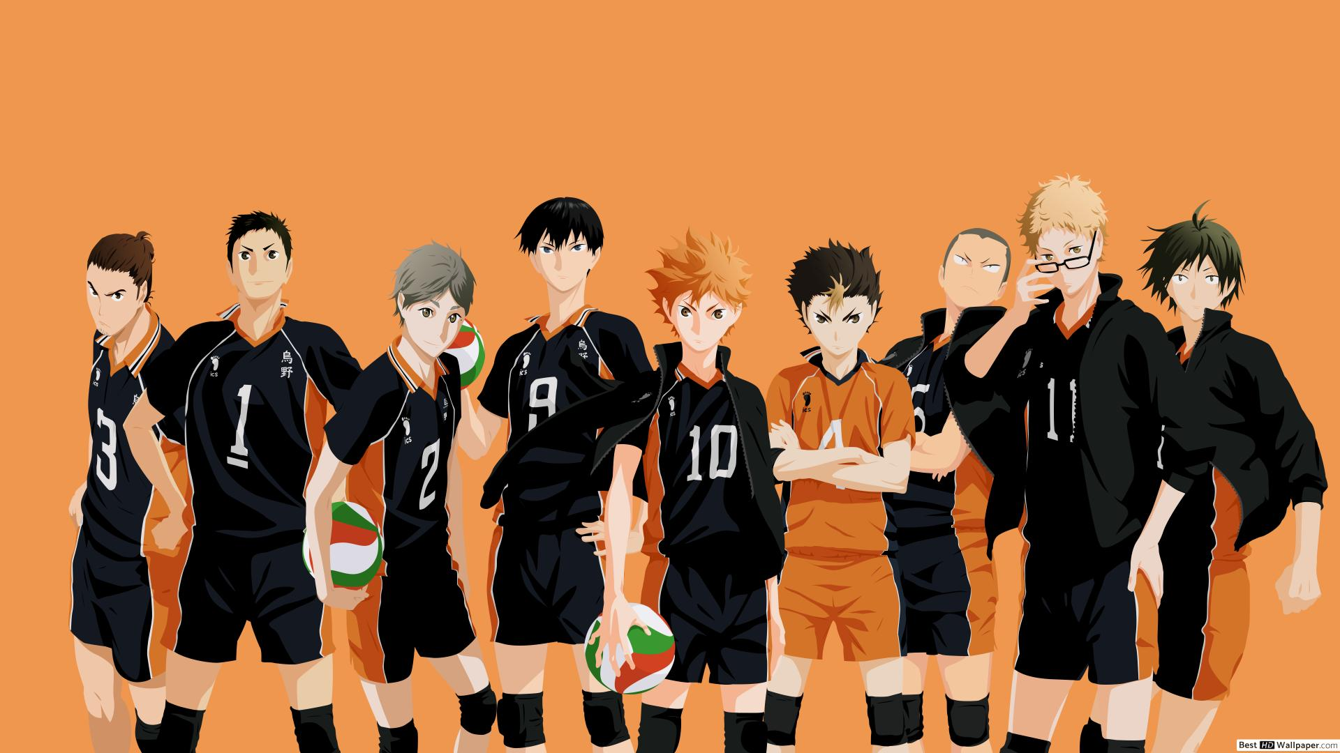 Haikyuu   Karasuno Team HD wallpaper download 1920x1080