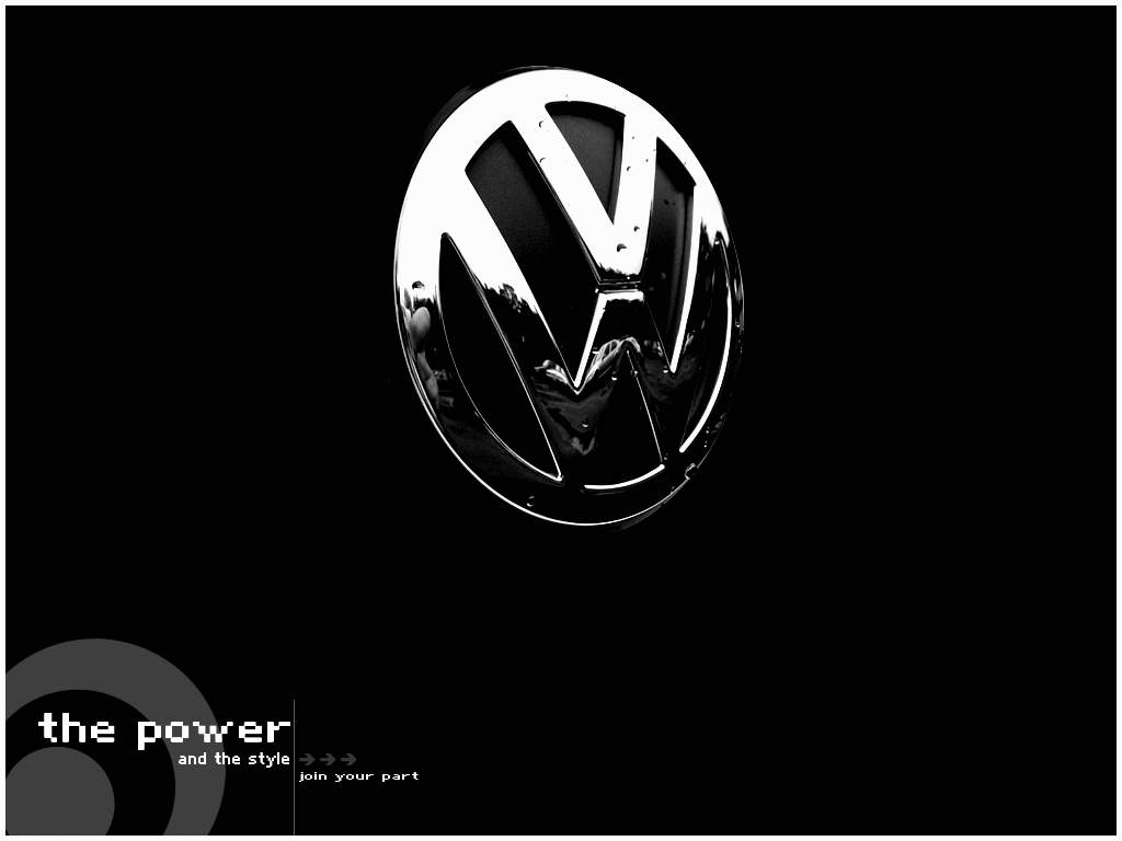 Cars Next Volkswagen Logo Wallpaper 1024x768