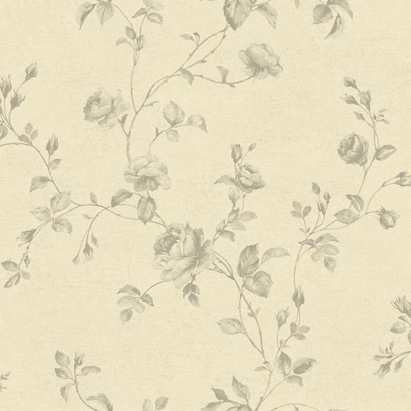 York Wallcoverings Kitchen Bath Rose Toile Wallpaper 800x800