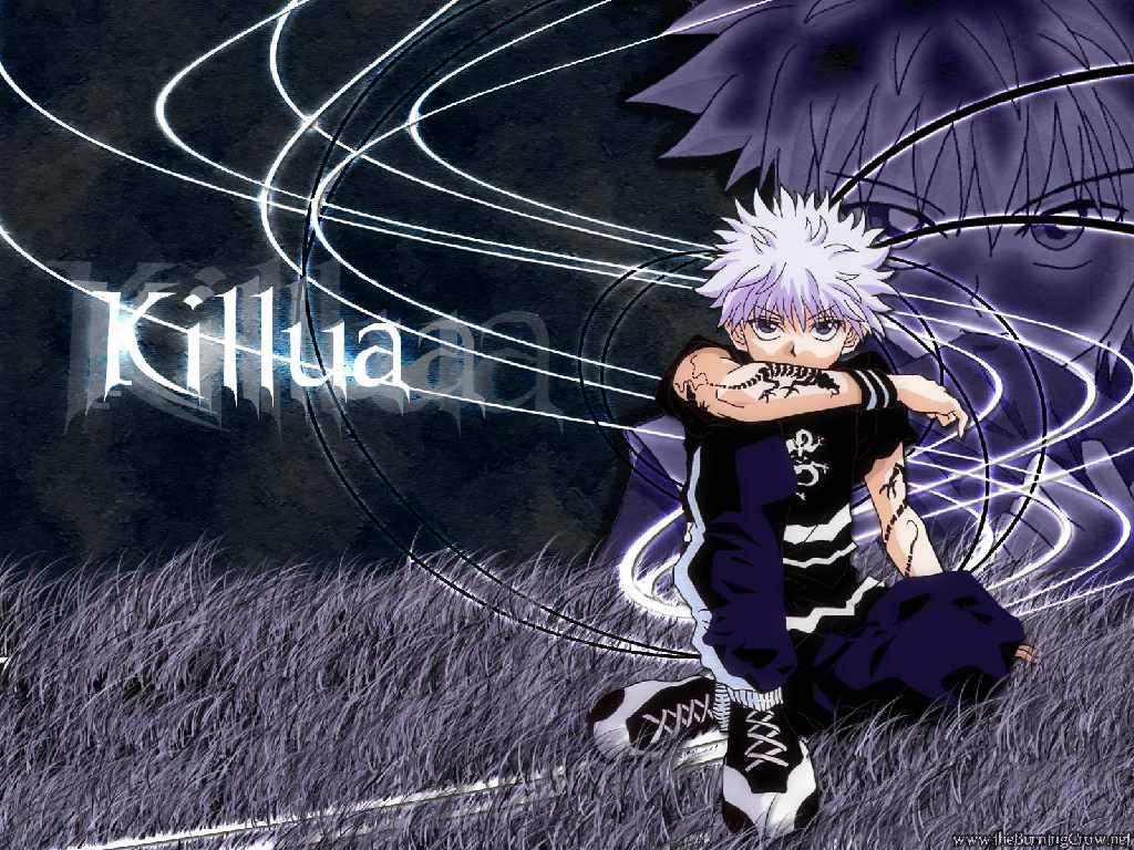 killua on blue   hunter x hunter Wallpaper 1024x768