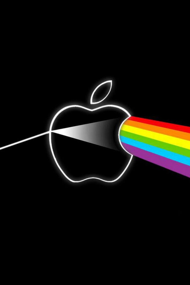 Download for iPhone logos wallpaper Apple Pink Floyd 640x960