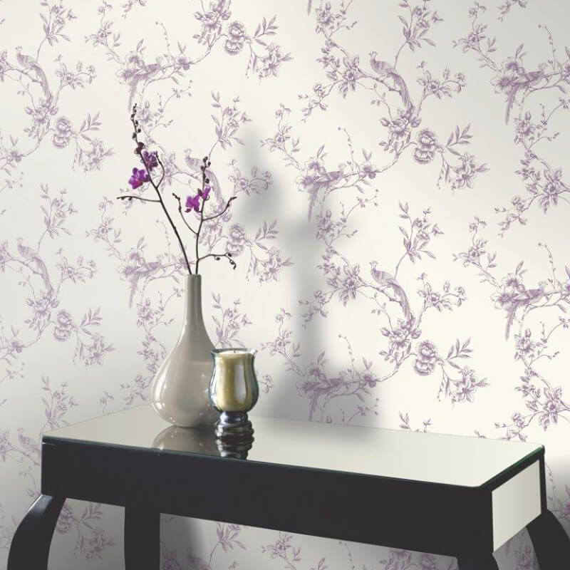 Arthouse Chinoise Wallpaper in Plum 425002 800x800