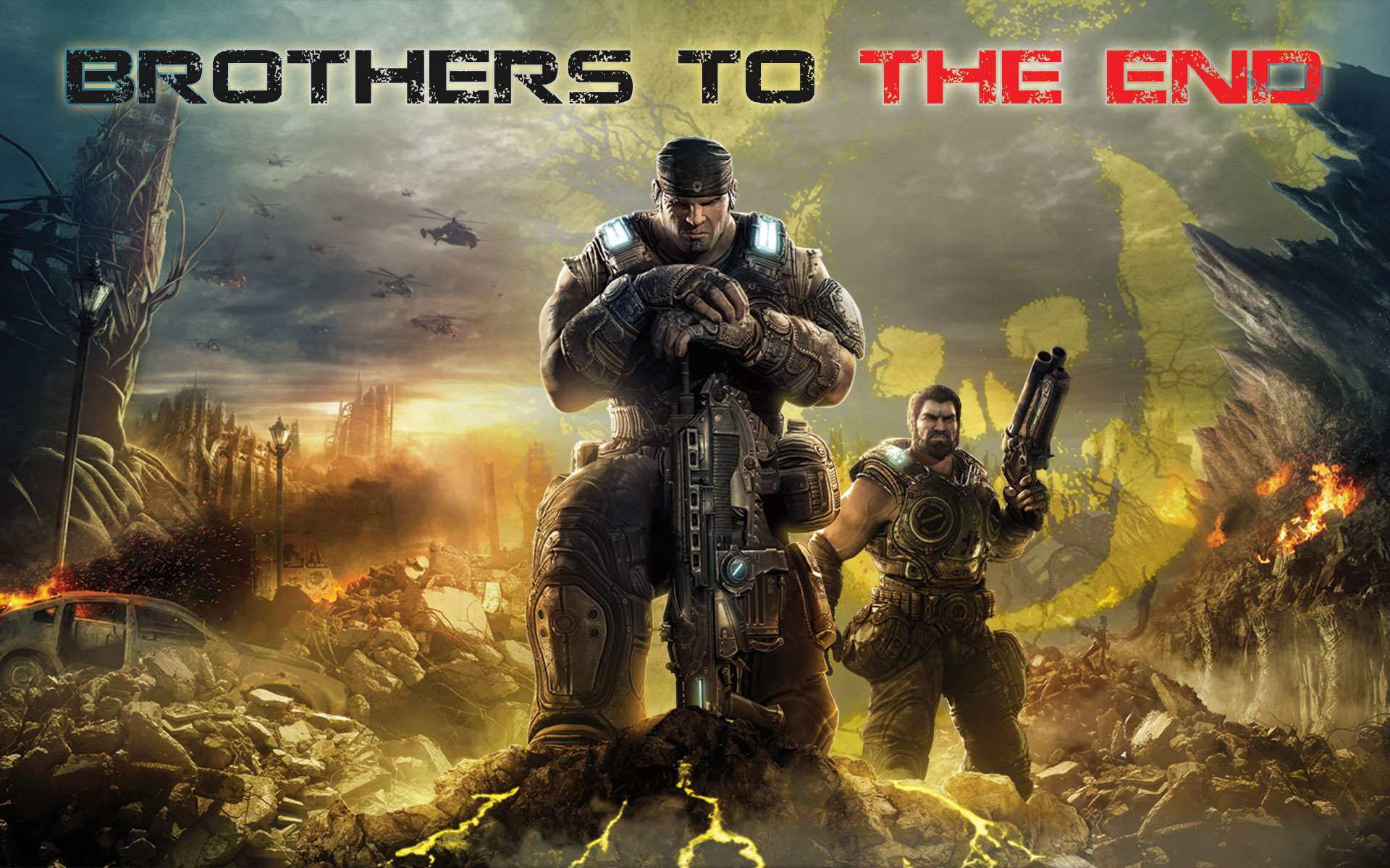 Wallpaper   Brothers To The End Yellow Omen   Xbox 360 Wallpaper 1920x1200