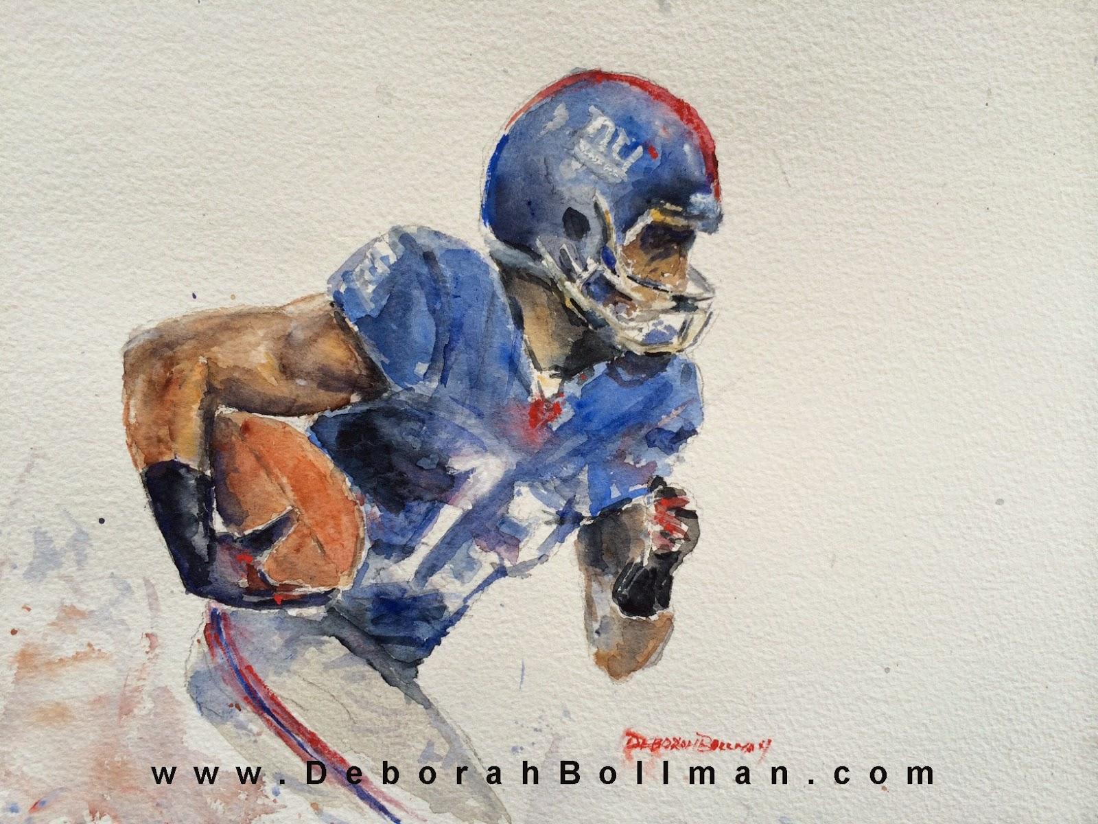 Odell Beckham Jr 13 Watercolor 9 x 12 1600x1200