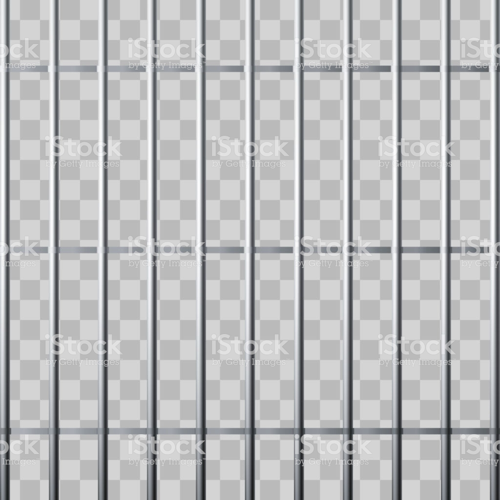 Prison Grid Metallic Cage Isolated On Transparent Background 1024x1024