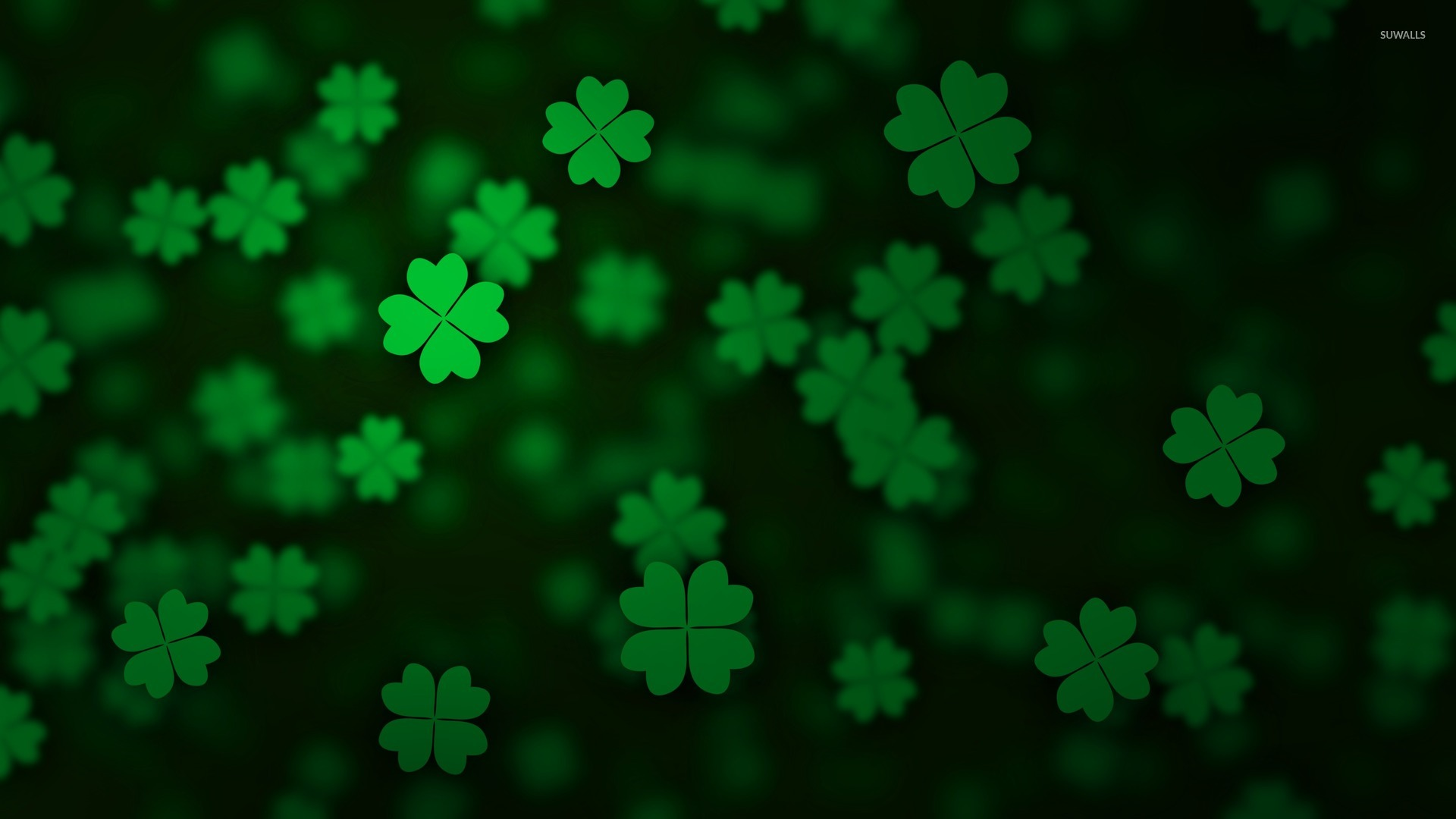 Floating clovers wallpaper   Holiday wallpapers   52888 1920x1080
