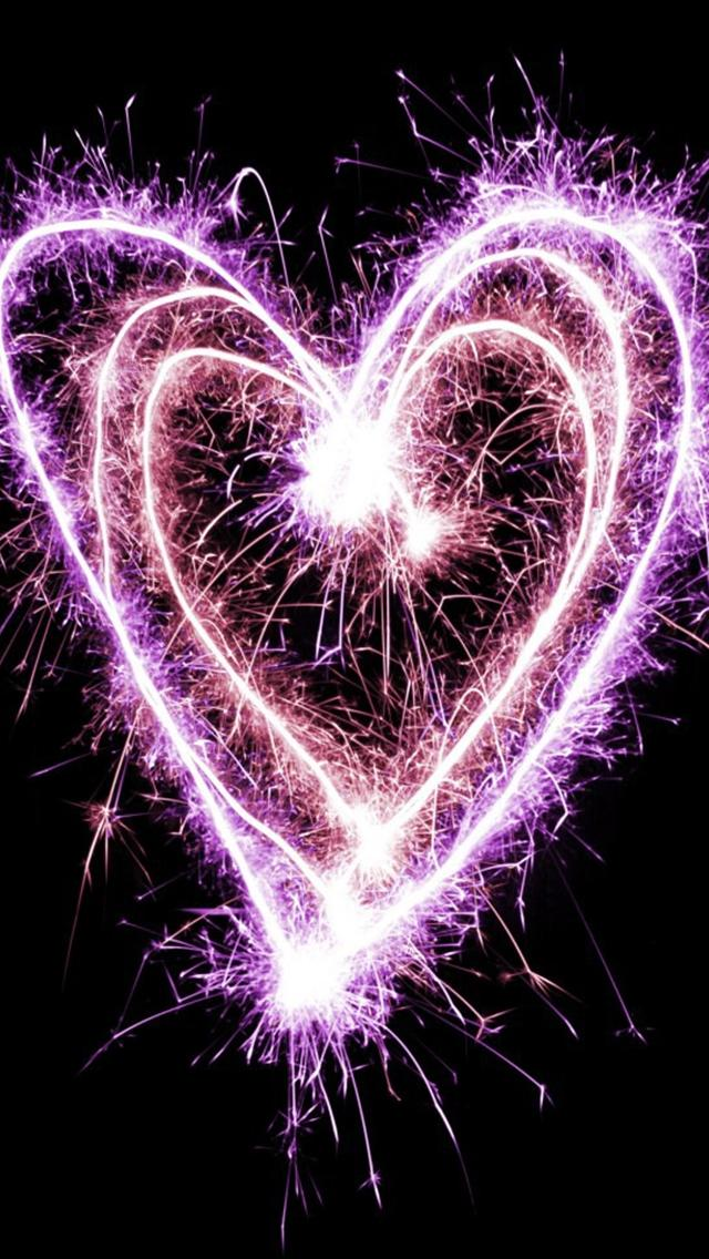 Cute Sparkle Heart Iphone 5 HD Backgrounds iPhone5 Wallpaper Gallery 640x1136