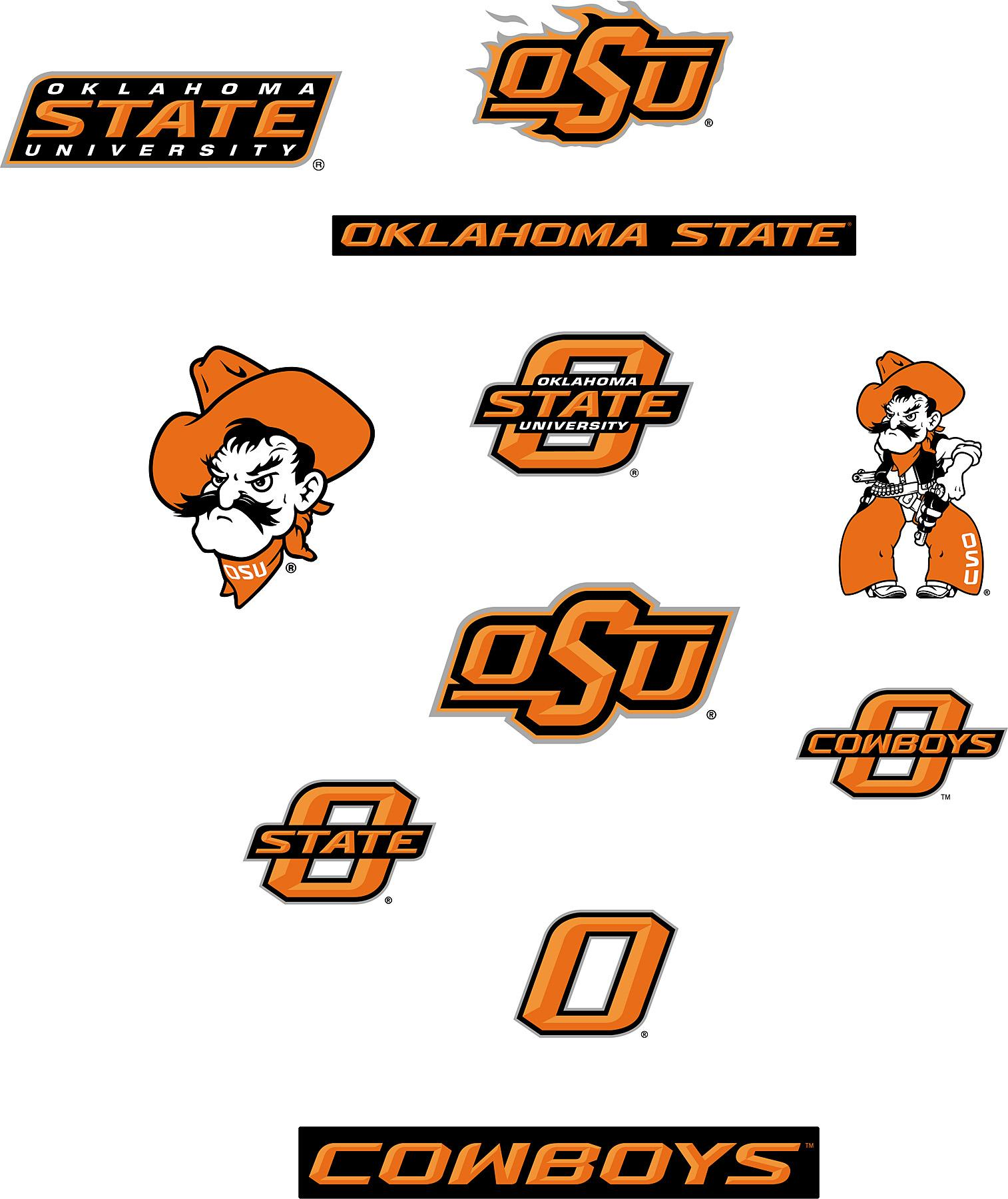 Brewster Wallcovering Oklahoma State Cowboys Logo Fathead Jr Search 1514x1800