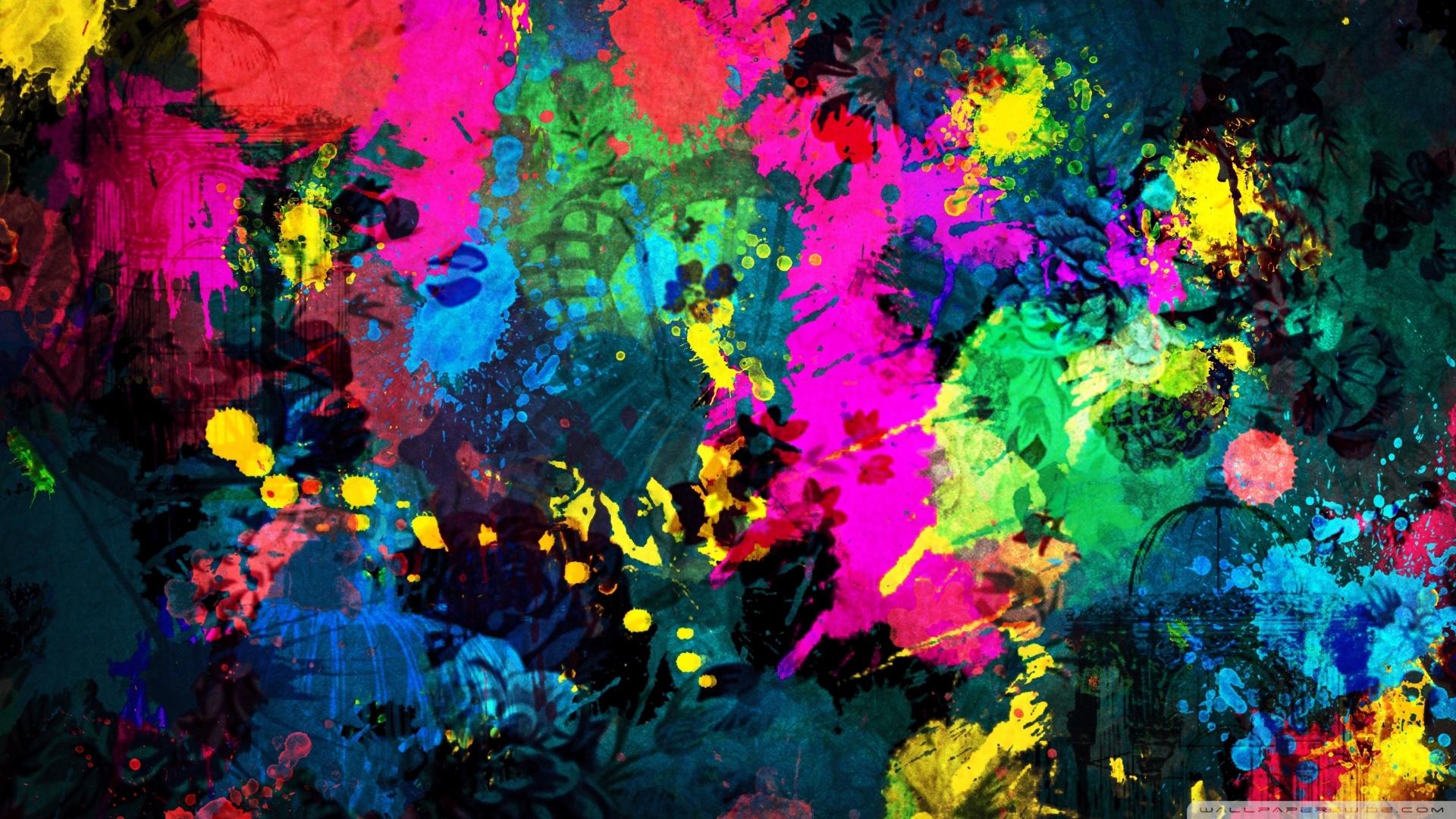 Colorful Paint Splatter Wallpaper 1920x1080 Colorful Paint Splatter 1920x1080
