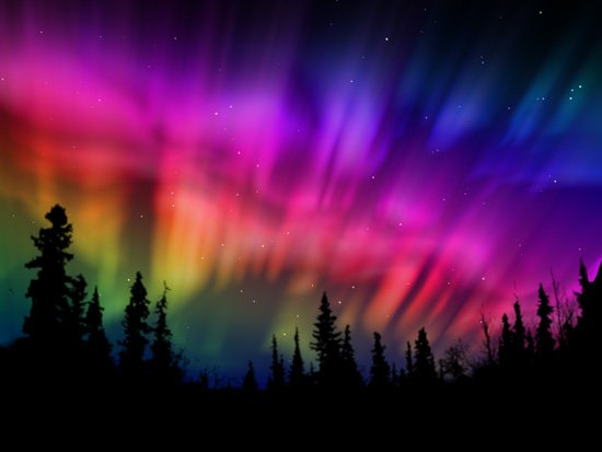 Nine comps of animated northern lights using AE's built-in Fractal ...