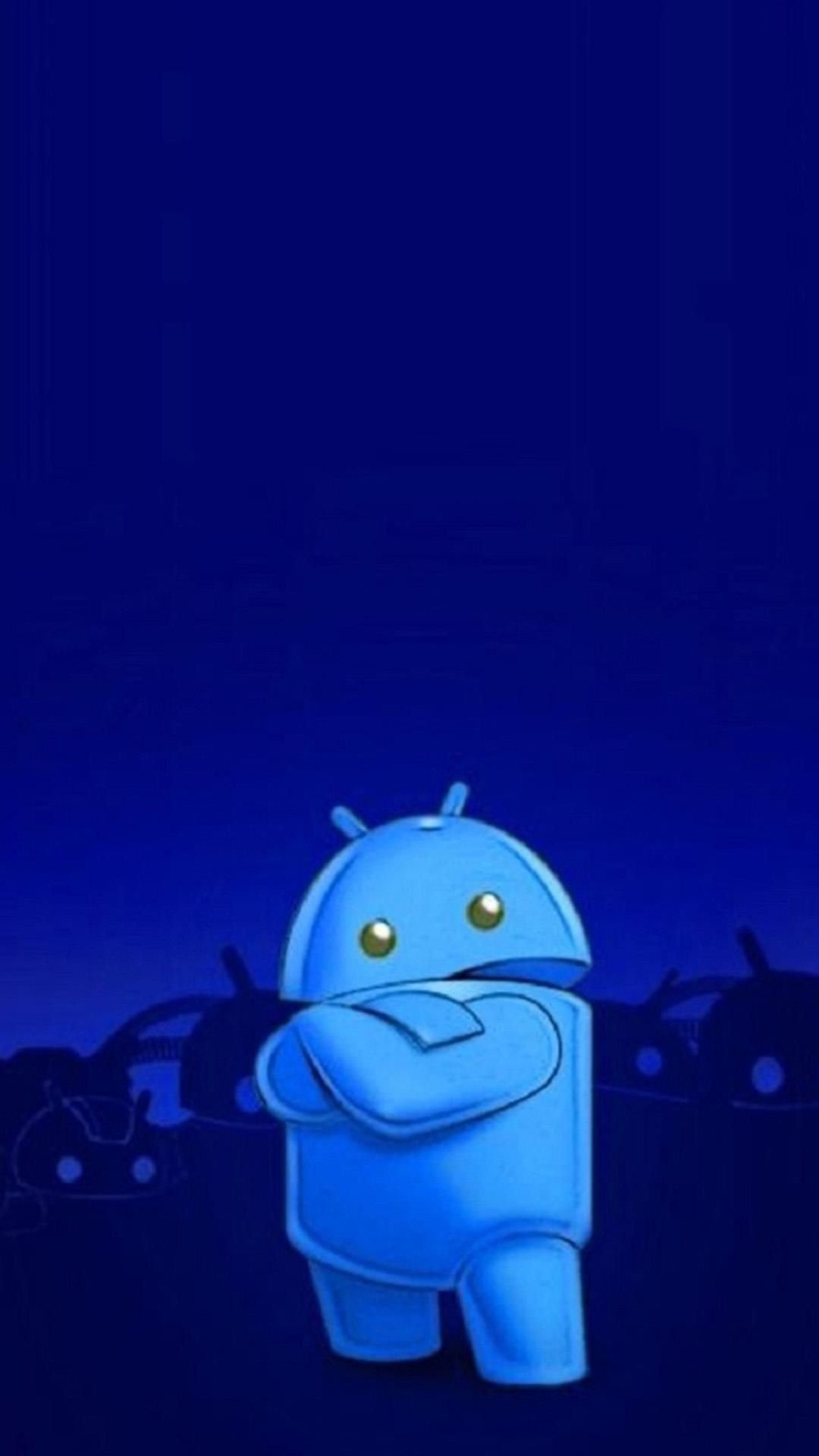 Android Wallpaper Blue - WallpaperSafari