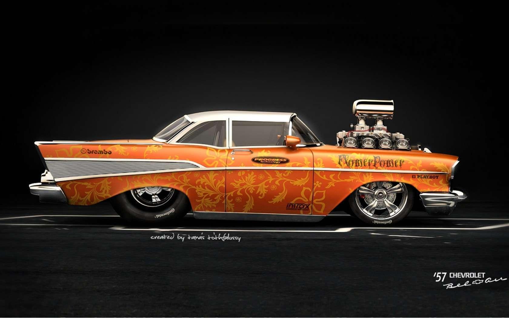 57 Chevy Lowrider Portal Supranatural 1680x1050