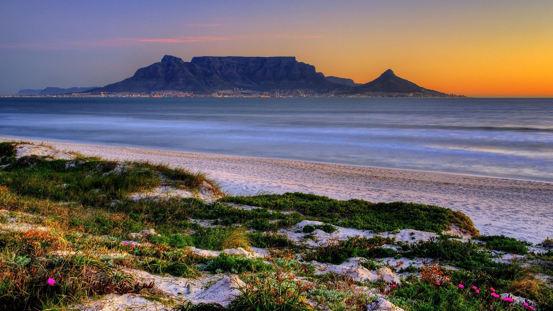 Cape town south africa table mountain landscapes nature wallpaper 1920x1080