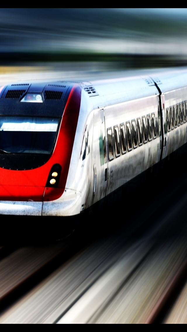 High Speed Train iPhone 5 Wallpaper 640x1136 640x1136