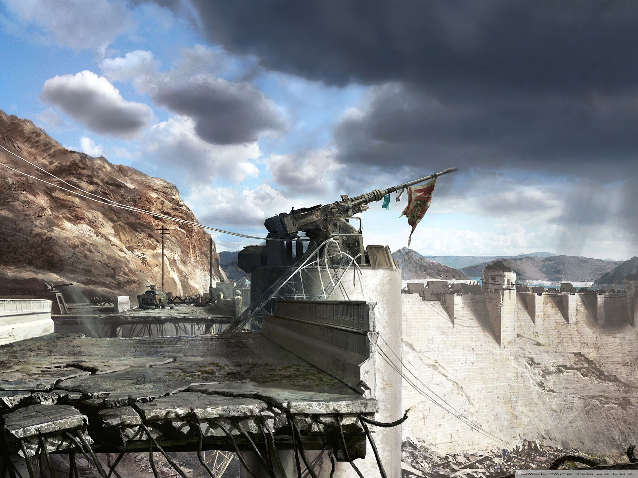 Fallout New Vegas Hoover Dam Concept Art 4K HD Desktop 2048x1536