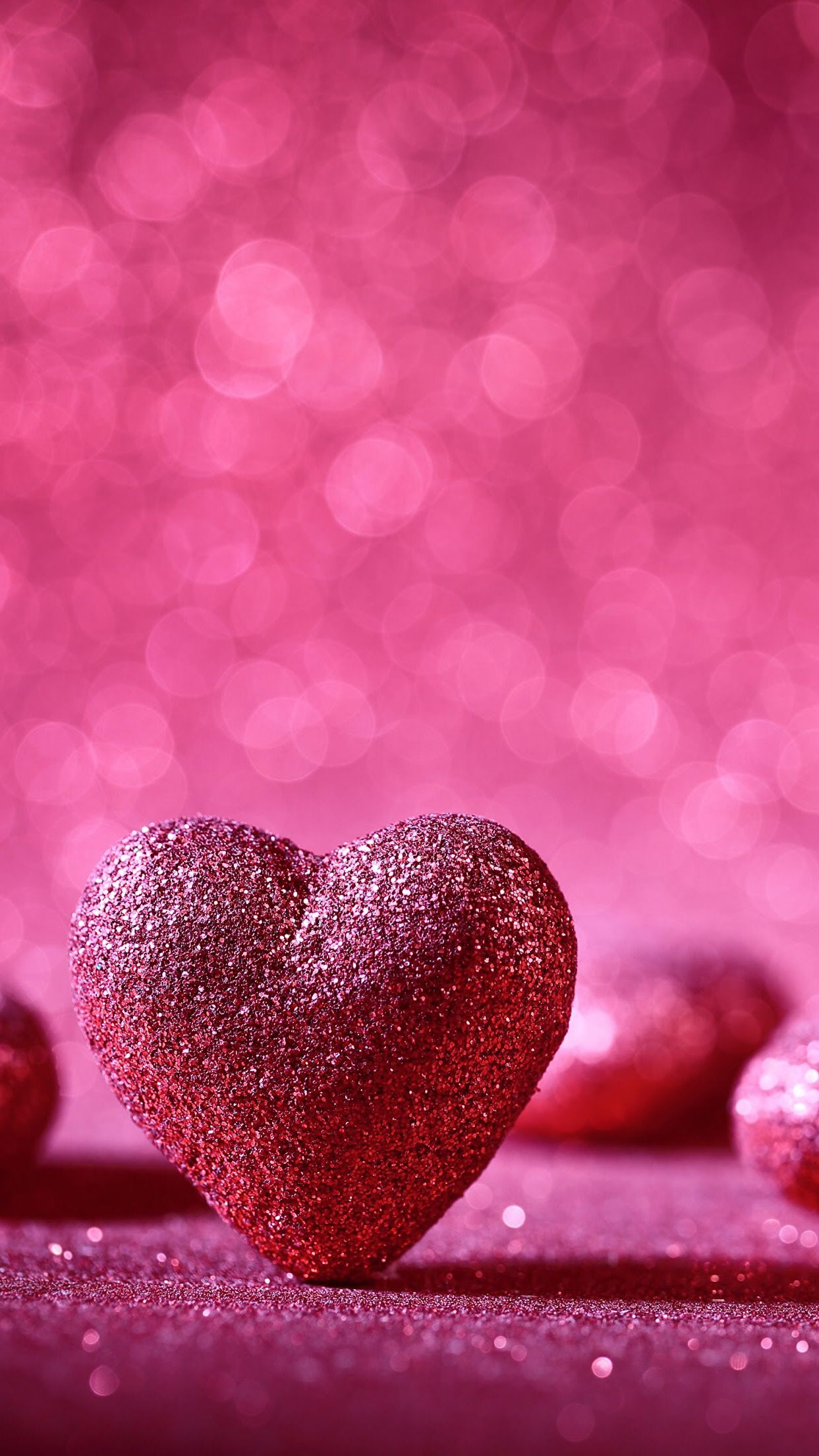 HD mobile wallpaper Glitter Heart Cell Phone Wallpapers in 2019 1243x2208
