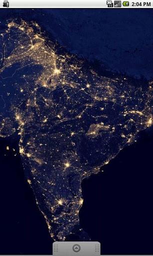 View bigger   Earth At Night India Wallpaper for Android screenshot 307x512