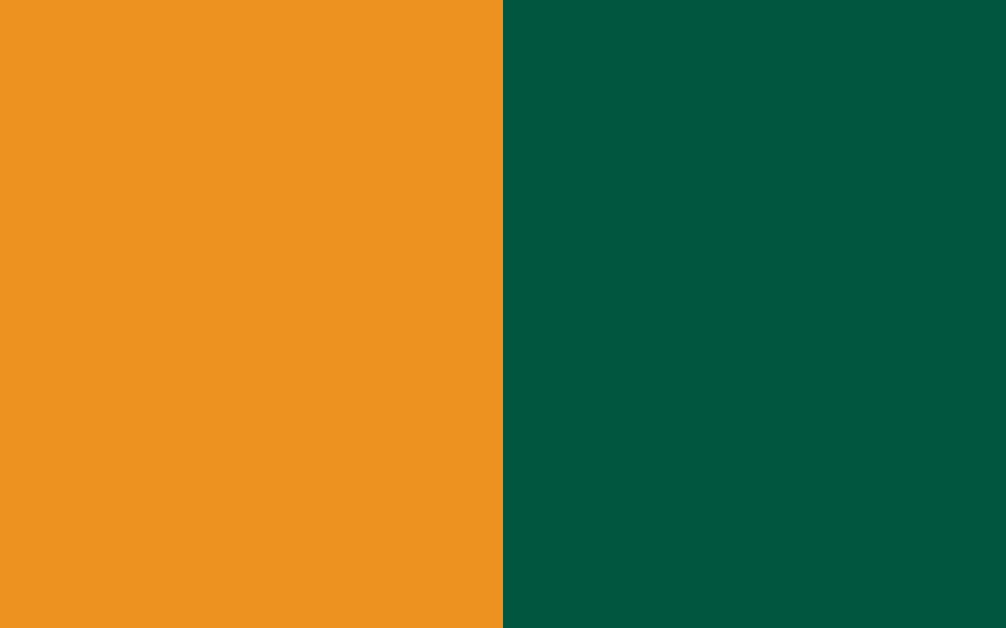 Carrot Orange and Castleton Green solid two color background 1440x900