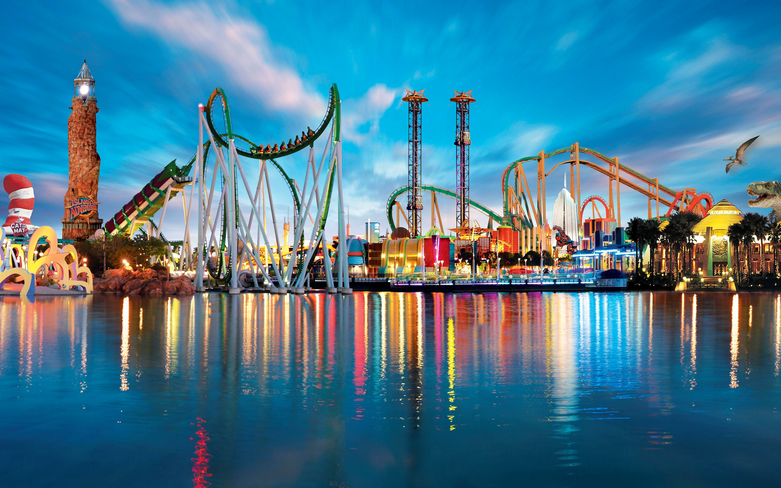 Islands of Adventure Theme Park in Florida USA Photo HD Wallpapers 2560x1600