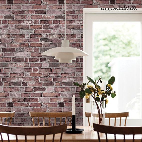 Removable Wallpaper Vintage Brick Self Adhesive Fabric Wallpaper 570x570