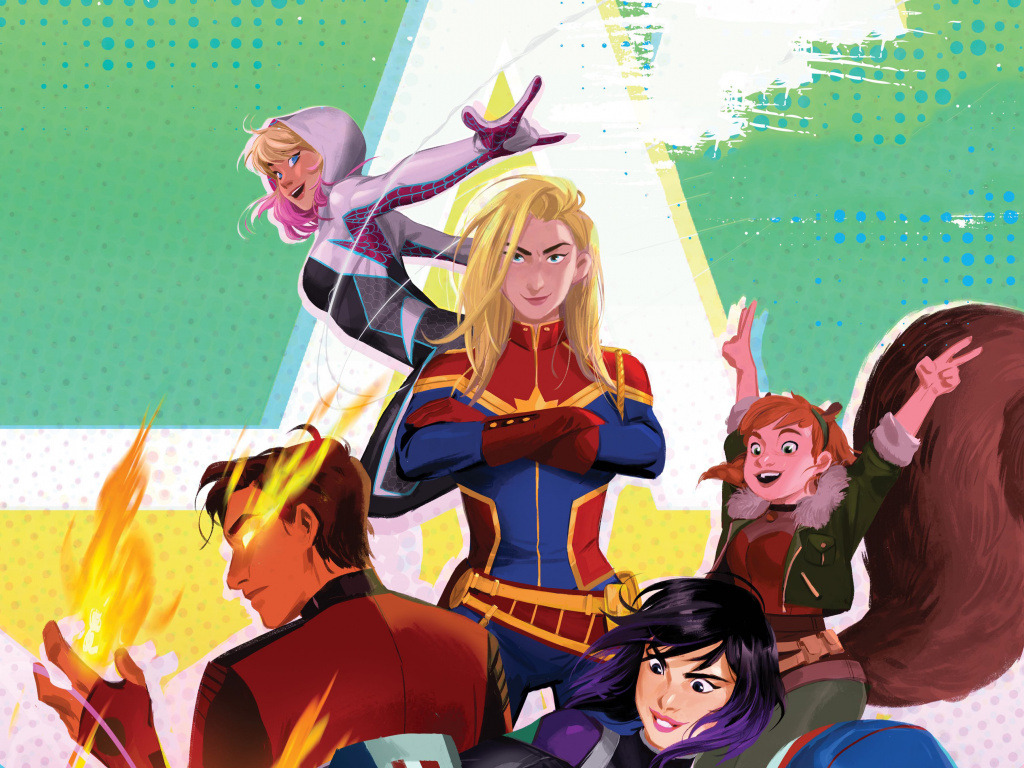 Desktop wallpaper marvel rising secret warriors 2018 animated 1024x768