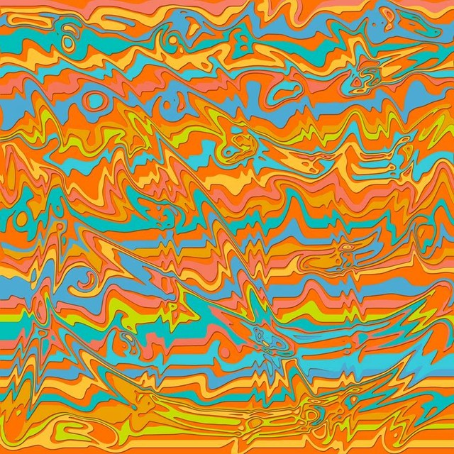 Groovy Dreams   Orange Wall Mural   Contemporary   Wallpaper   by 640x640