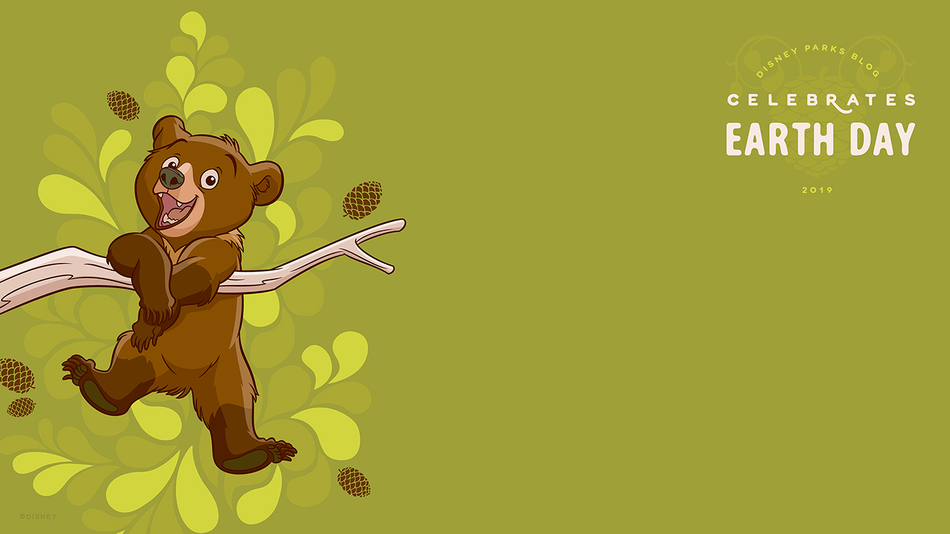 Celebrate Earth Day with Our New Digital Wallpaper Disney Parks Blog 1366x768