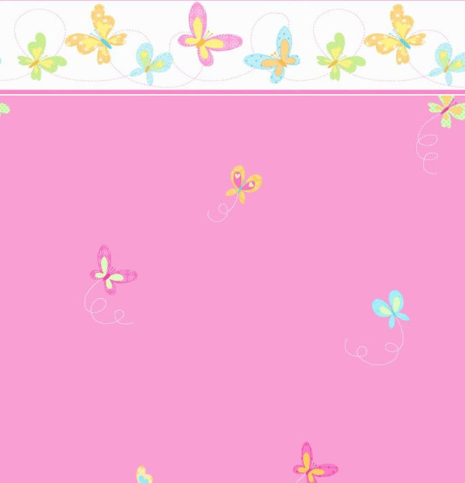 Childrens Rooms Butterfly Butterfly Bedroom Wallpaper   Pink 673x700