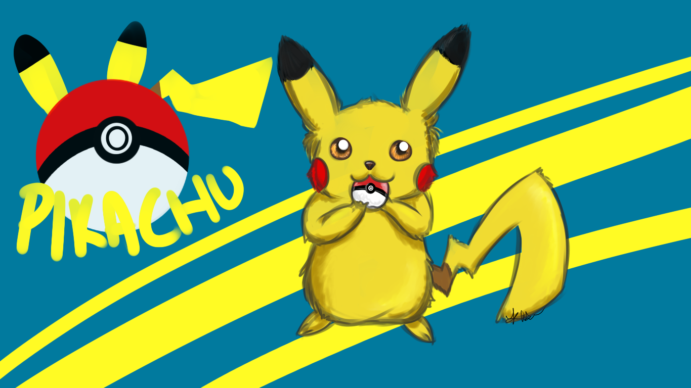 Pokemon   Pikachu wallpaper by Liminull 1366x768