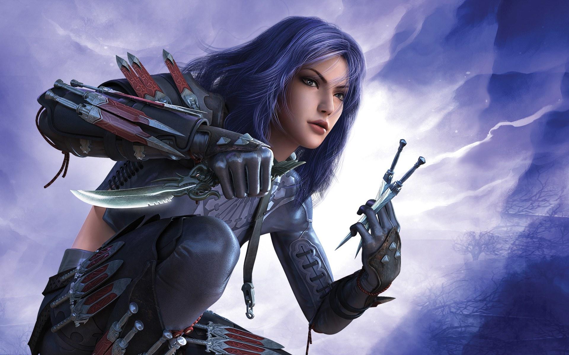 chica Fantasy   Asesino fondos de pantalla chica Fantasy   Asesino 1920x1200