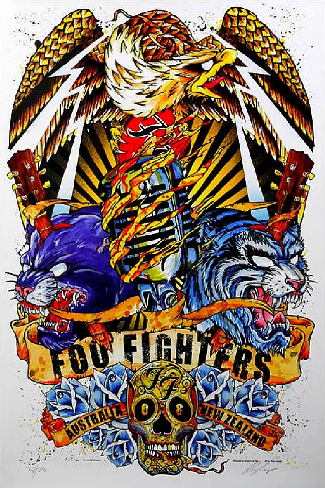 Foo Fighters Music Background For Your IPhone Download 640x960