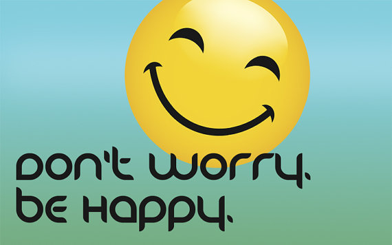 Desktop Wallpaper Image Dont Worry Be Happy Happy by JRPDesign 570x356