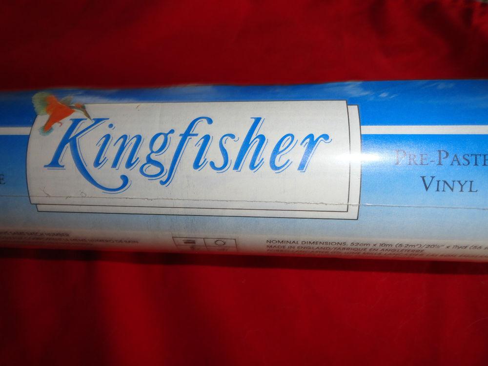 Purple Kingfisher Pre Pasted Vinyl Wallpaper eBay 1000x750