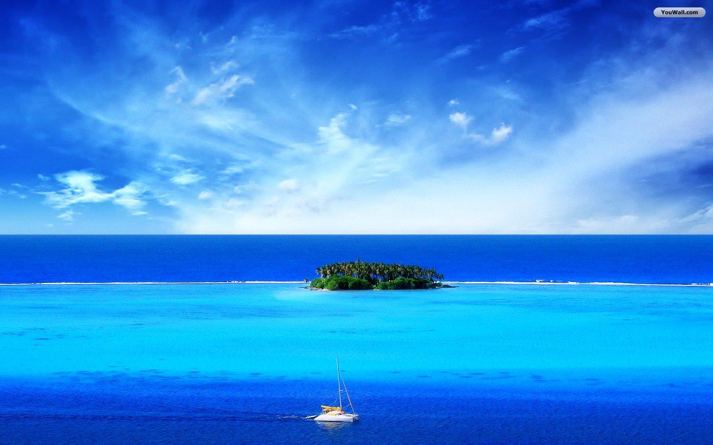 YouWall   Blue Sea Wallpaper   wallpaperwallpapersfree wallpaper 1440x900