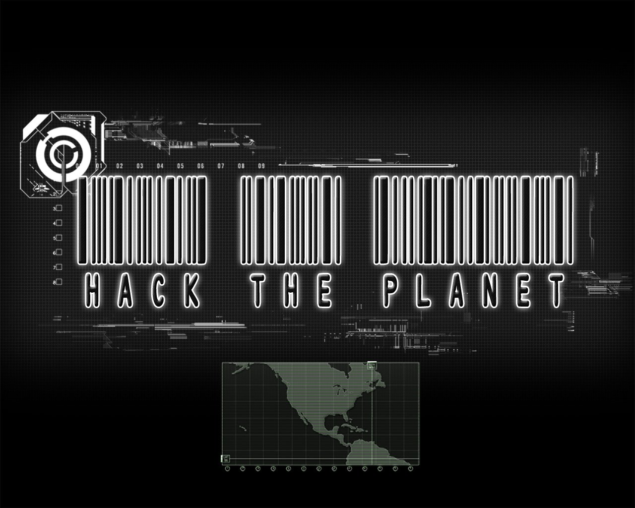 Hack The Planet Barcode Desktop Wallpapers and Backgrounds 1280x1024