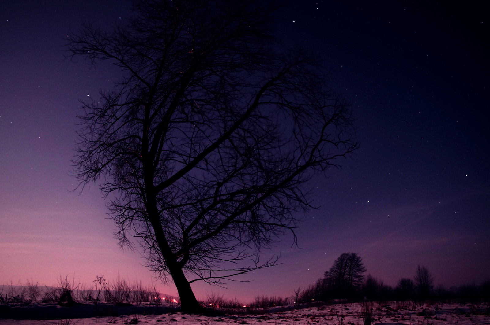 Winter Night Sky by mcgraczu 1600x1063