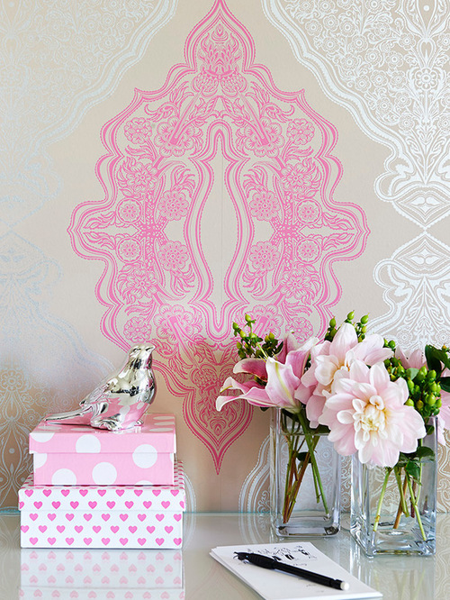 Velvet Wallpaper Home Design Ideas Pictures Remodel and Decor 500x666