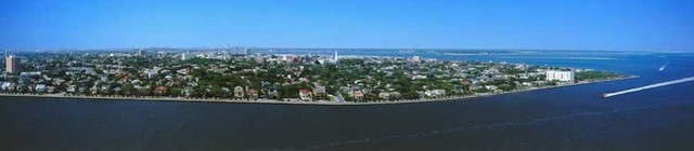 Charleston South Carolina Wall Mural   Contemporary   Wall Stickers 640x140