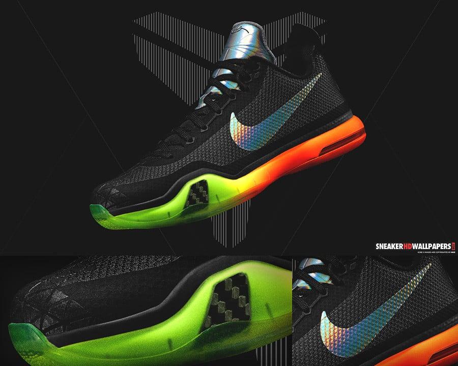 Nike Kobe X 10 Vino Poison Green Sequoia Volt Men's Sz 10.5 Elite