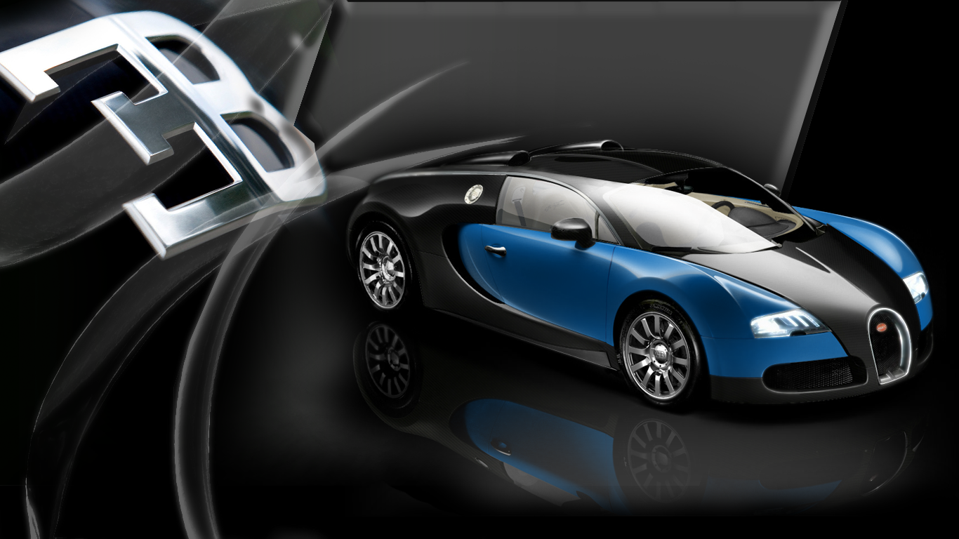 Bugatti Veyron Logo HD Desktop Wallpaper 01 1366x768