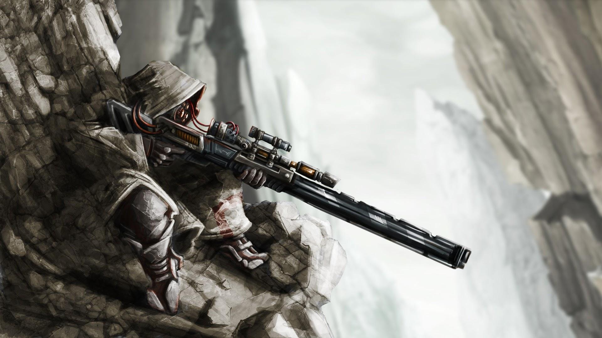 sniper marks man rifle fantasy hd wallpaper 1920x1080 a535 1920x1080