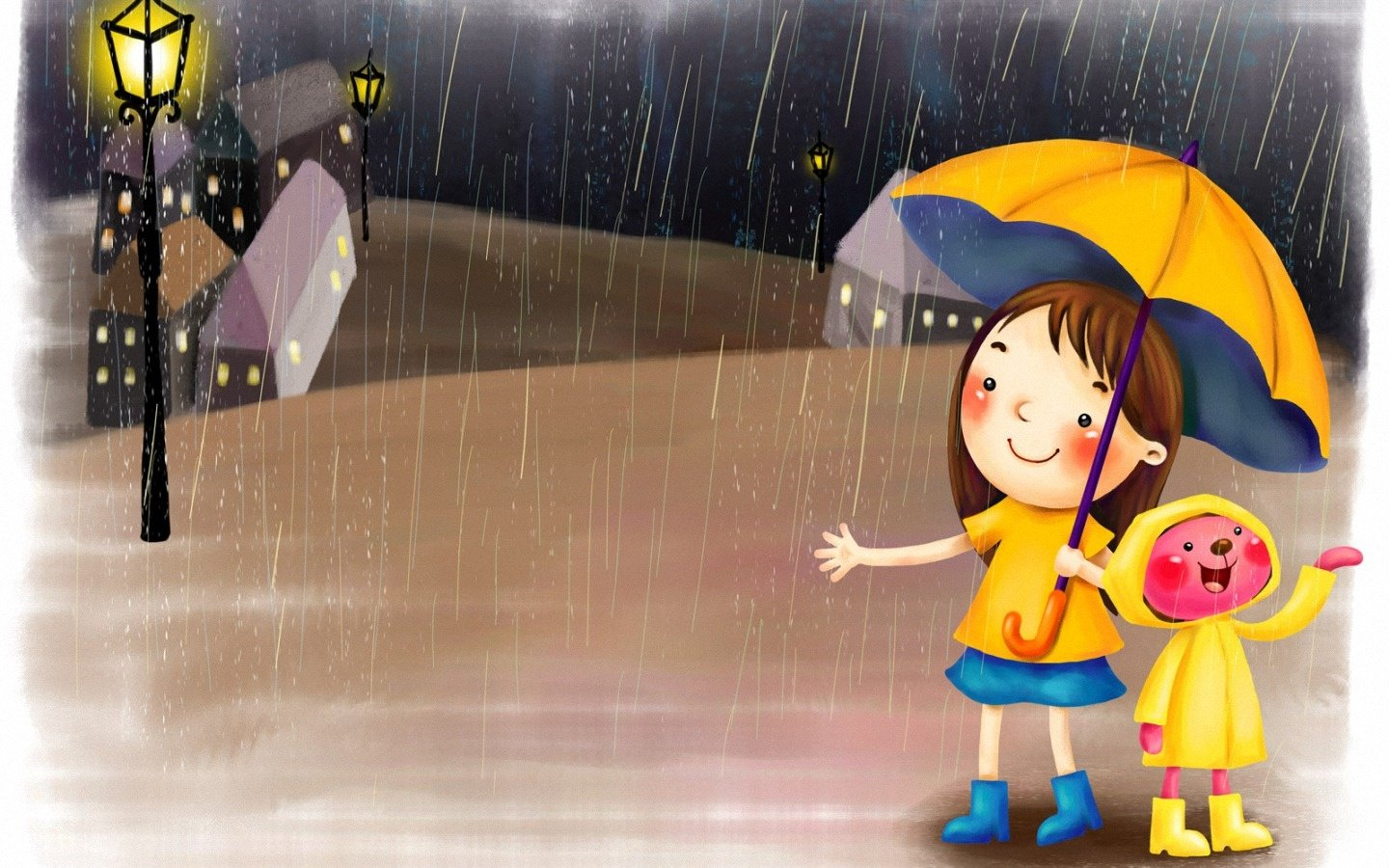 animated rain   HD Background 1440x900