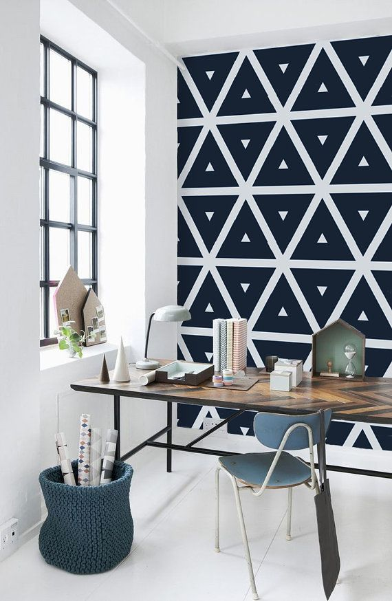 Geometric Pattern Self Adhesive Vinyl Wallpaper Z036 570x874