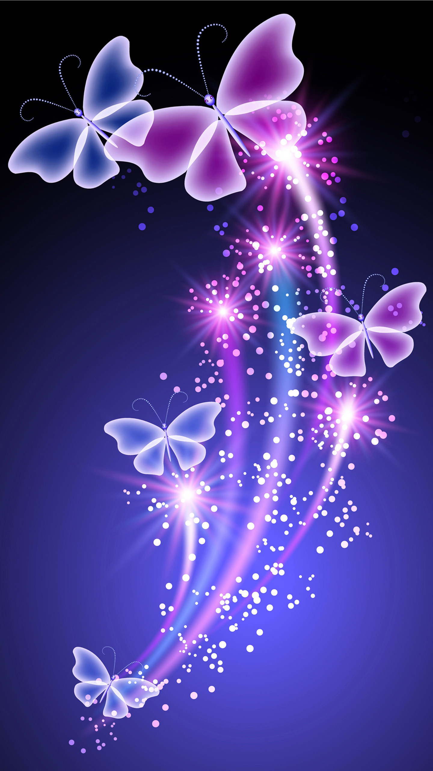 58 3D Butterfly Wallpapers on WallpaperPlay 1440x2560