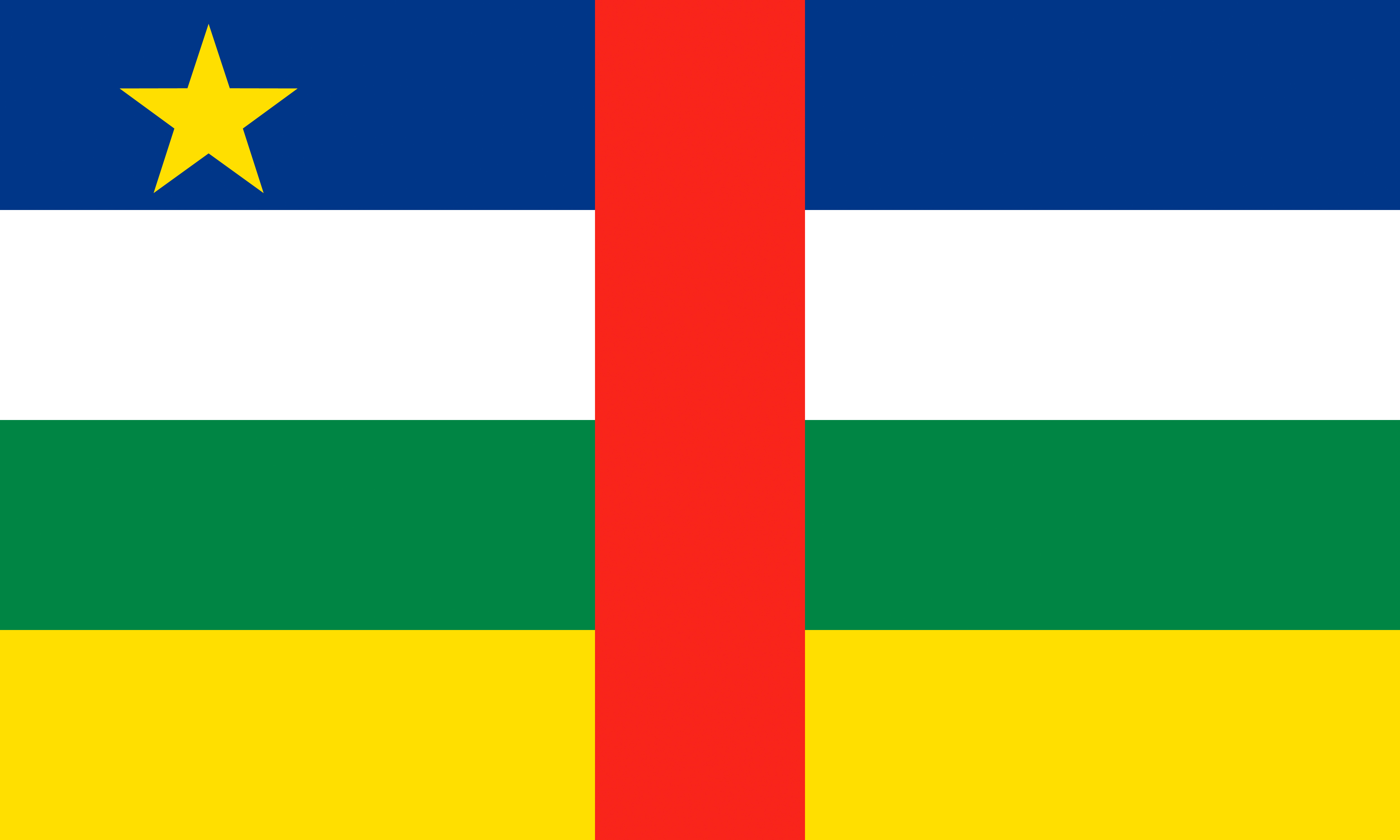 Photo Central African Republic Flag 5000x3000 5000x3000